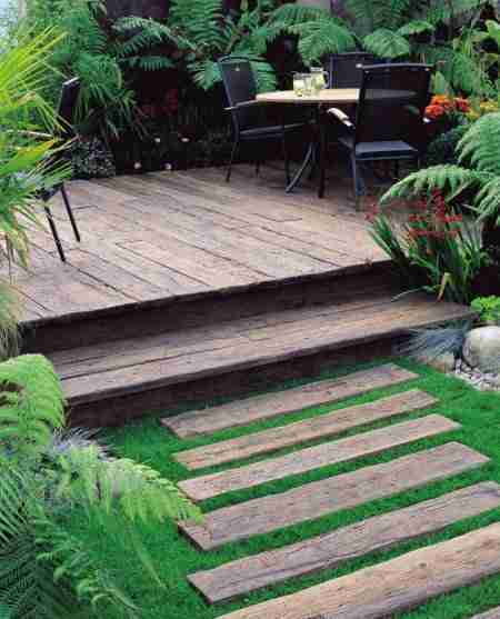 weathered vintage decking